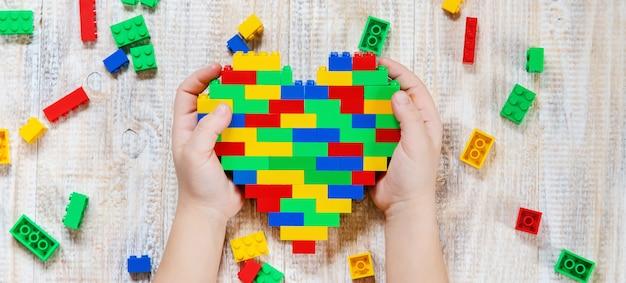 Build a designer lego heart.