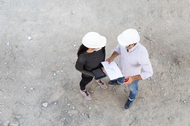 保護フェイスマスク作業のビルダーとエンジニアリング