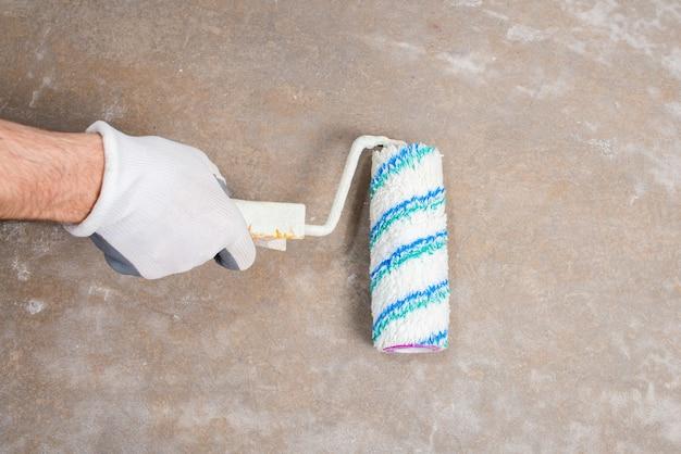 페인트 롤러, 건설 모형과 콘크리트 바닥을 프라이밍 보호 장갑에 작성기 수리공