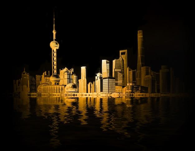 중국 현대 물 관광 건물