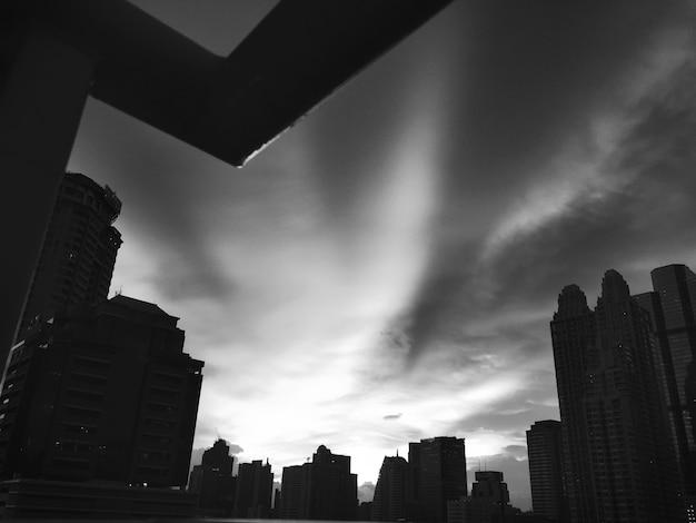 Building cityscape skyline downtown concrete jungle concept