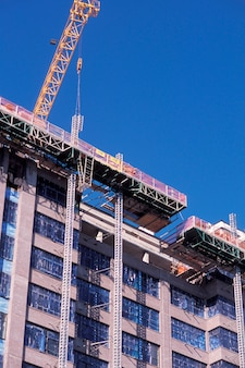 Building under construction, low angle view