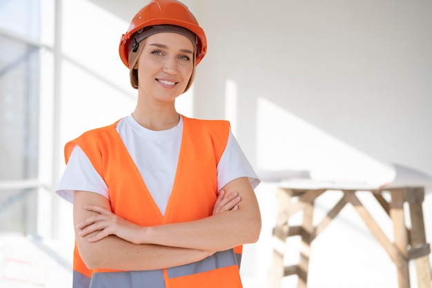 Building and construction worker on the site