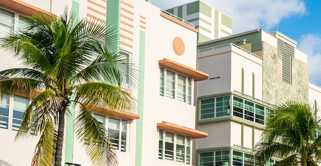 Building in the  district in south beach, miami