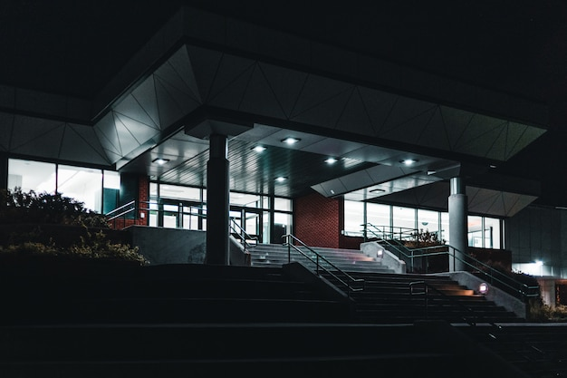 Building front during nighttime