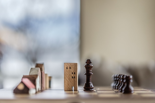 Building and house models in chess game,