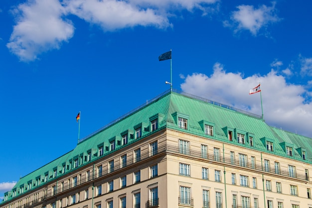 Building at parisian square in berlin, germany