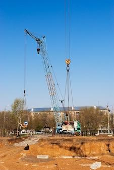 Building pit, orenburg, russia. 06.05.2009