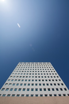Building skyscrapper architecture blue sky construction