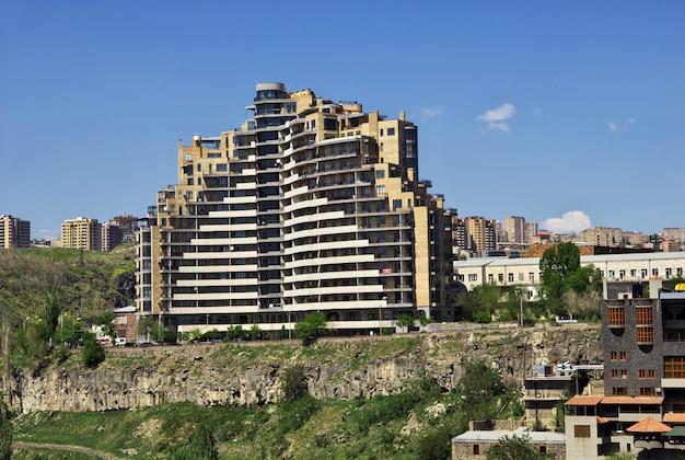 The building in yerevan, armenia