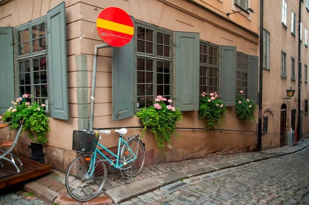 Buildings along an alley, gamla stan, stockholm, sweden