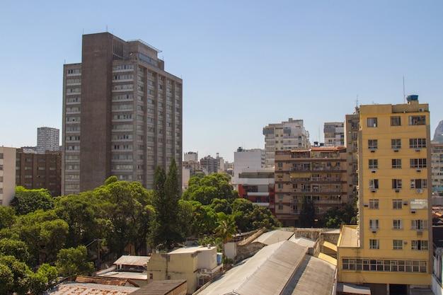 Buildings in the botafogo neighborhood in rio de janeiro brazil.
