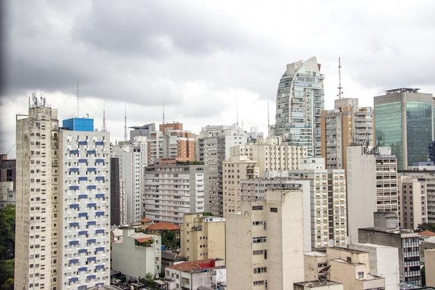 Buildings of the city center of sao paulo