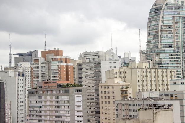 Buildings of the city center of são paulo