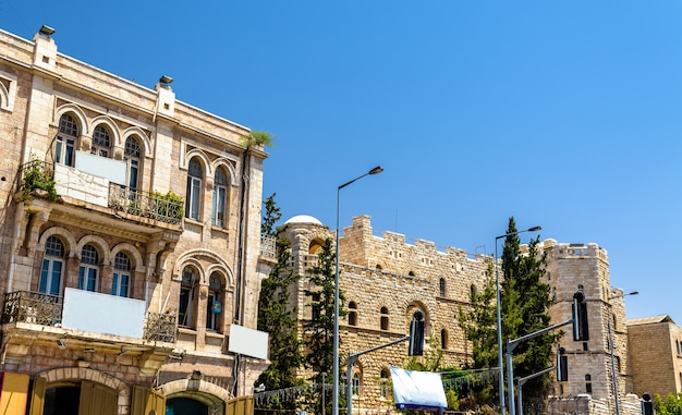 Buildings in the city centre of jerusalem - israel