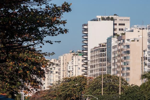 Buildings in the copacabana neighborhood in rio de janeiro, brazil.