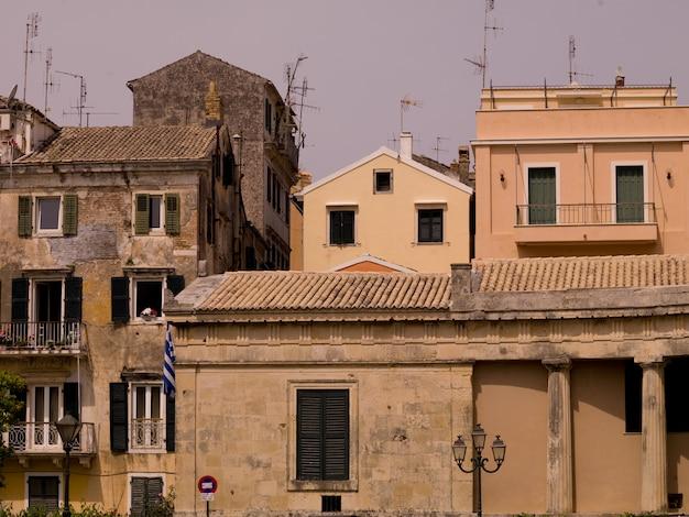 Buildings in corfu greece