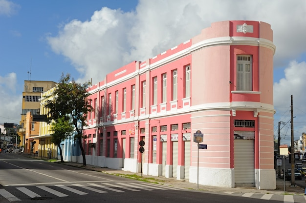 Buildings in the historic center of joao pessoa paraiba brazil on august 23 2012