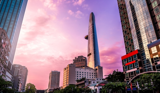 Buildings in ho chi minh city of vietnam