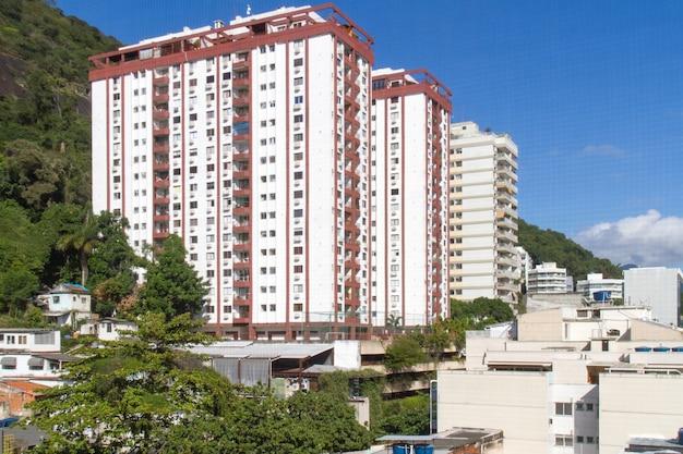 Buildings in the humaita neighborhood in rio de janeiro brazil. Premium Photo