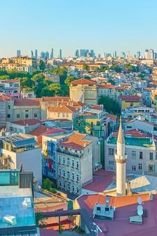 터키 이스탄불 갈라타 지구의 건물들