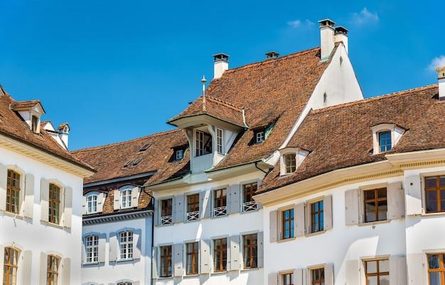 バーゼルの市内中心部にある建物-スイス