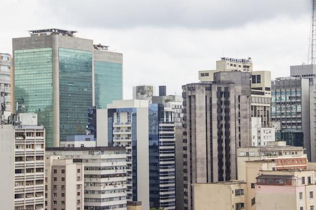 サンパウロの市内中心部の建物