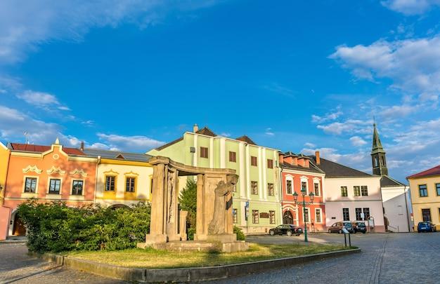 Buildings in the old town of prerov - olomouc region, czech republic