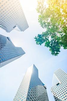 건물 하늘 마천루 블루 사무실