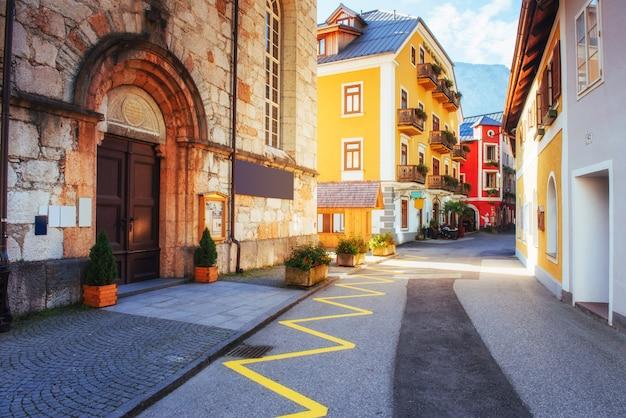 Buildings and streets. hallstatt. austria