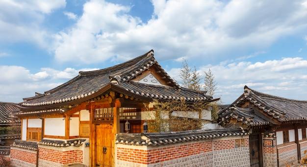 Деревня букчон ханок в сеуле, южная корея