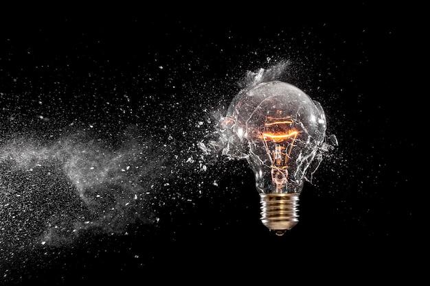 Bulb glass explosion