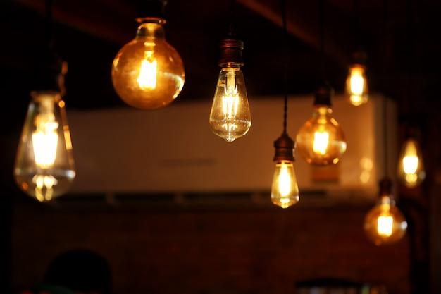 Bulb light retro style