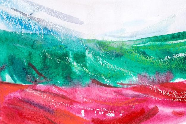Bulgaria, bulgarian flag. hand drawn watercolor illustration.