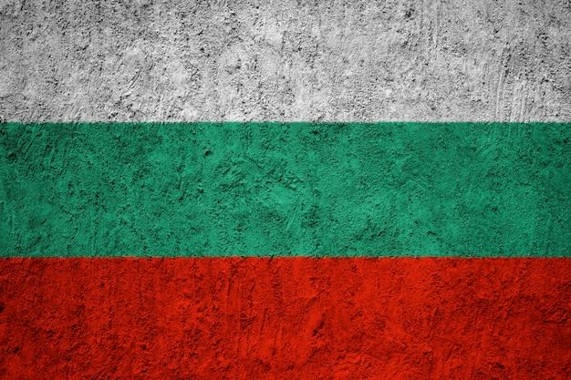 Bulgaria flag painted on grunge wall