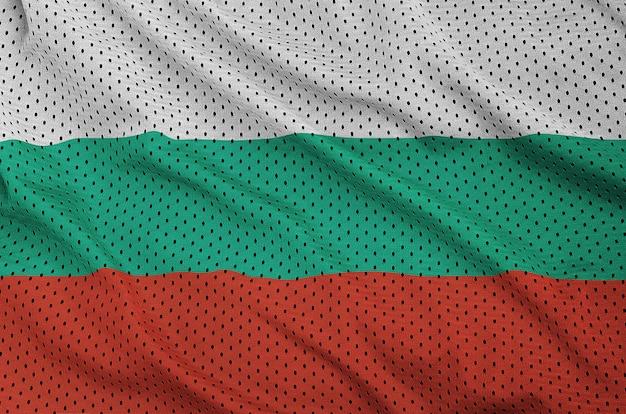 Bulgaria flag printed on a polyester nylon sportswear mesh fabric