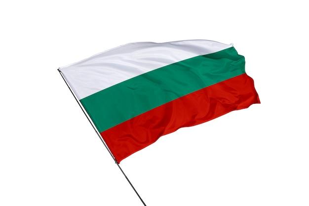 Болгарский флаг на белом фоне