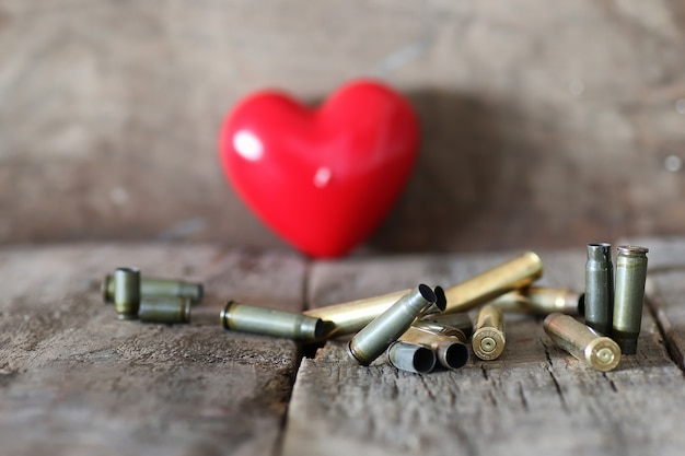 Bullet and shape heart