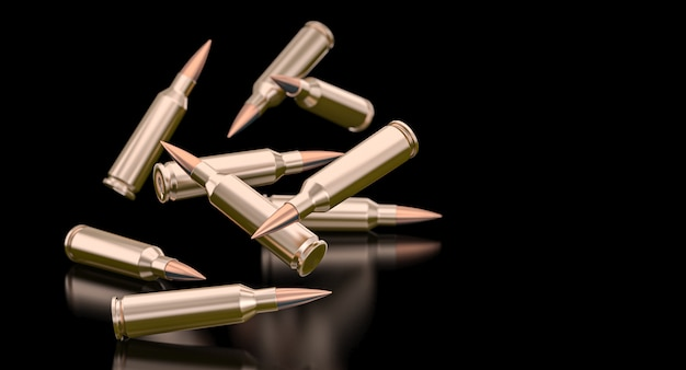Bullets of a 7.62 caliber assault rifle.