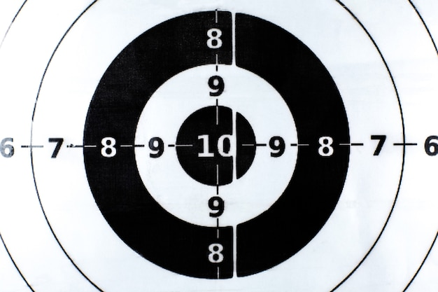 Bullseye is a target of business.  success concept. target with numbers. close up.