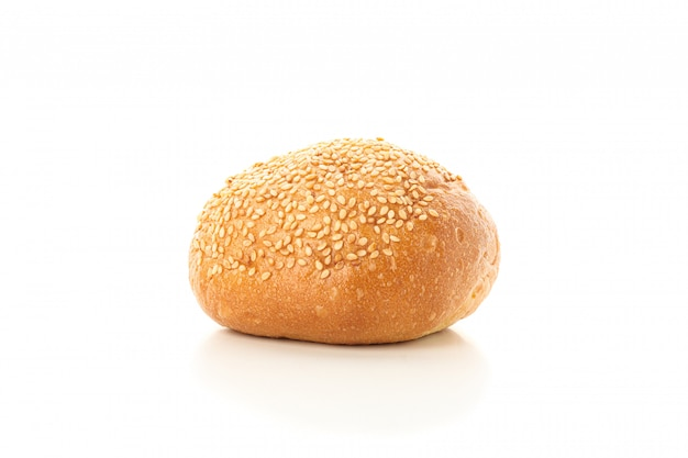 Bun isolated . bakery products