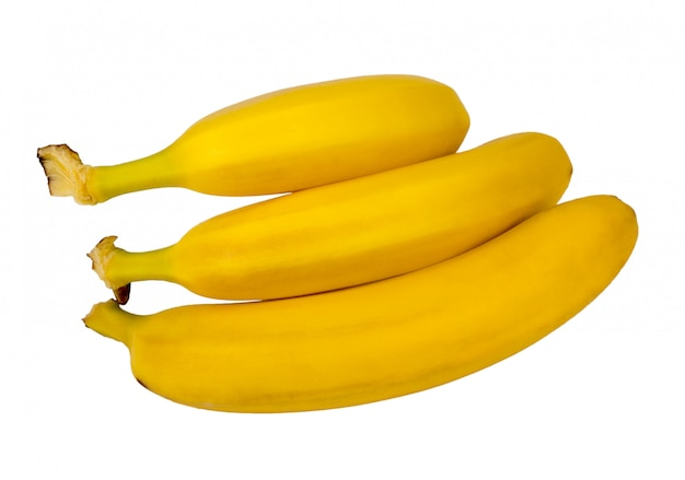 A bunch of bananas isolated.