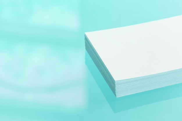Bunch of blank business cards