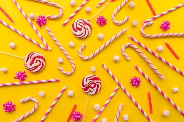 Bunch of candy canes