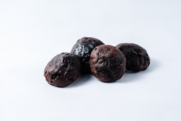 A bunch of chocolate muffins