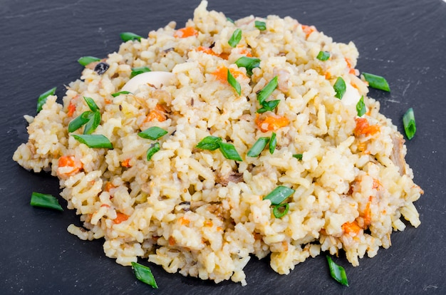 Bunch delicious golden pilaf