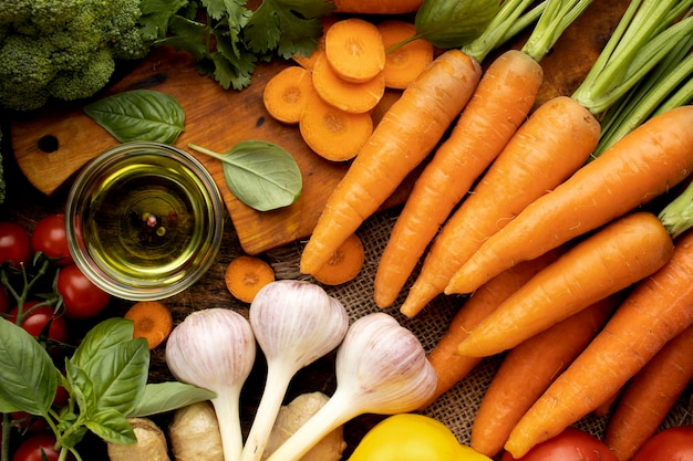 Bunch of fresh vegetables assortment
