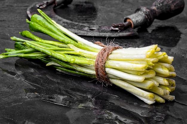 Bunch of fresh wild garlic