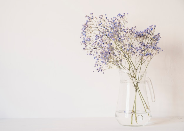 Bunch of gentle flowers in vase