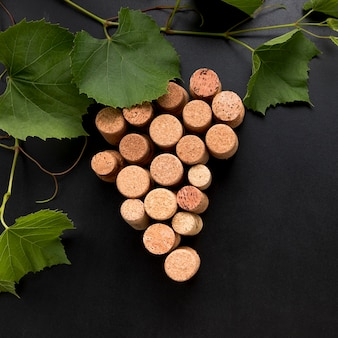 Bunch of grapes made of corks